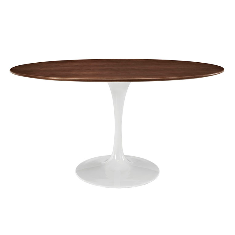 Table Odyssey 60 Oval Walnut Contemporary Dining