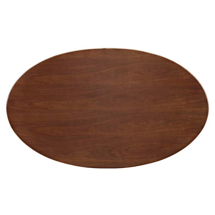 Odyssey 60 Quot Oval Walnut Modern Dining Table Eurway