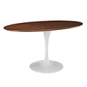 "Odyssey 60"" Oval Walnut Modern Dining Table"