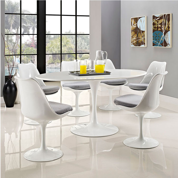 Odyssey 60 Quot Oval Modern White Dining Table Eurway
