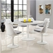 Odyssey 60 In. Oval White Mid Century Modern Dining Table