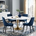 Odyssey 60 in. Modern Gold Round Dining Table