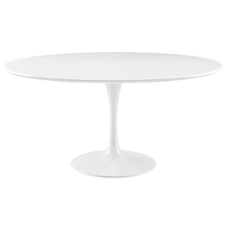 Odyssey 60 in. Round White Wood Top Dining Table
