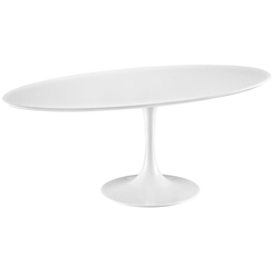 "Odyssey 78"" Oval White Modern Dining Table"