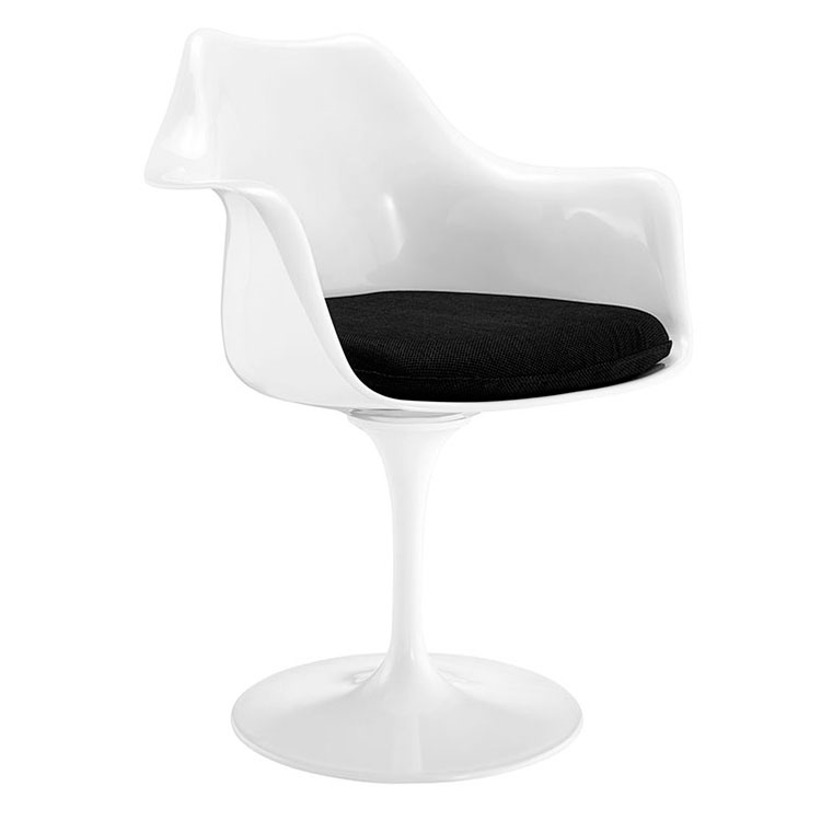 Odyssey Modern Classic Arm Chair - White + Black