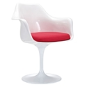 Odyssey Modern Classic Arm Chair in White + Red