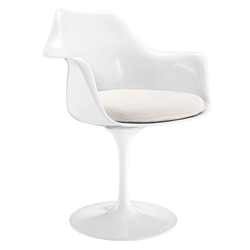 Odyssey Modern Classic Arm Chair in White