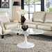 Odyssey Artificial White Marble Contemporary Coffee Table
