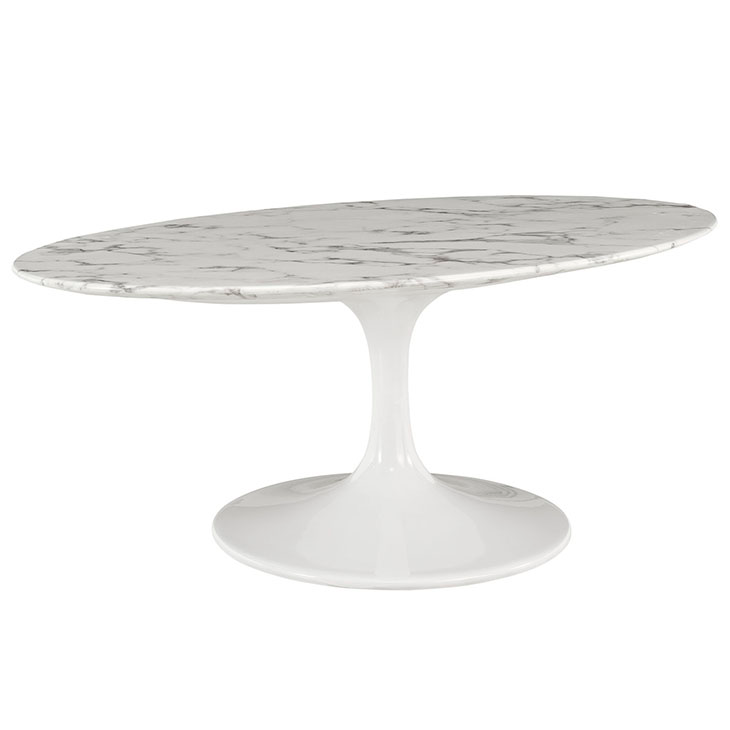 Faux Marble Coffee Table Canada: Odyssey Modern Artificial Marble Coffee Table