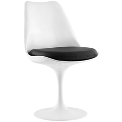 Odyssey Modern White + Black Vinyl Side Chair
