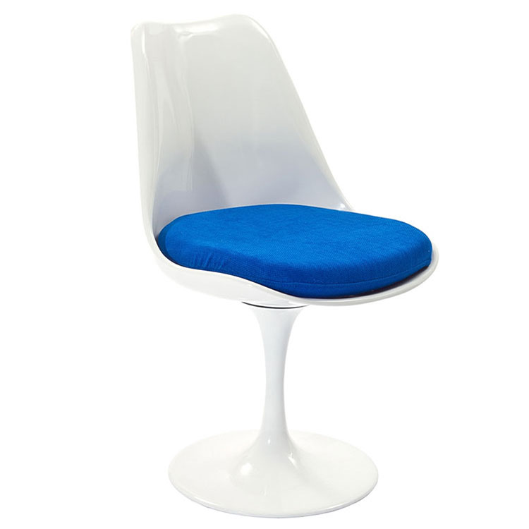Odyssey Modern Classic Side Chair White + Blue