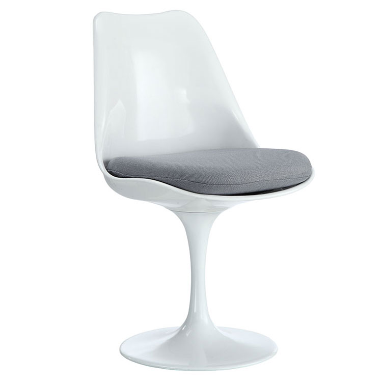 Odyssey Modern Classic Side Chair White + Gray