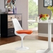 Odyssey Mid-Century Modern Orange Vinyl Side Chair