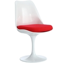 Odyssey Modern Classic Side Chair White + Red