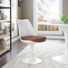 Odyssey Mid-Century Modern Tan Vinyl Side Chair
