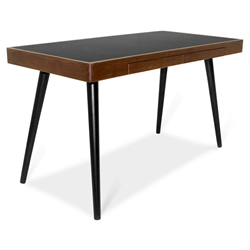 Ogden Modern Black + Walnut Desk