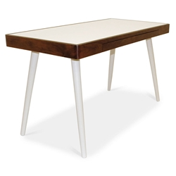 Ogden Modern White + Walnut Desk