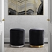 Ojai Modern Ottoman Collection in Black