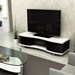 Ola Curved TV Stand by BDI in White