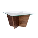 Oliva Square Walnut Contemporary End Table