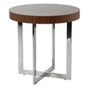 Oliver Modern End Table in Walnut