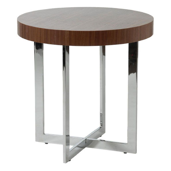 Olivander Modern End Table in Walnut