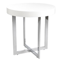 Olivander Modern End Table in White