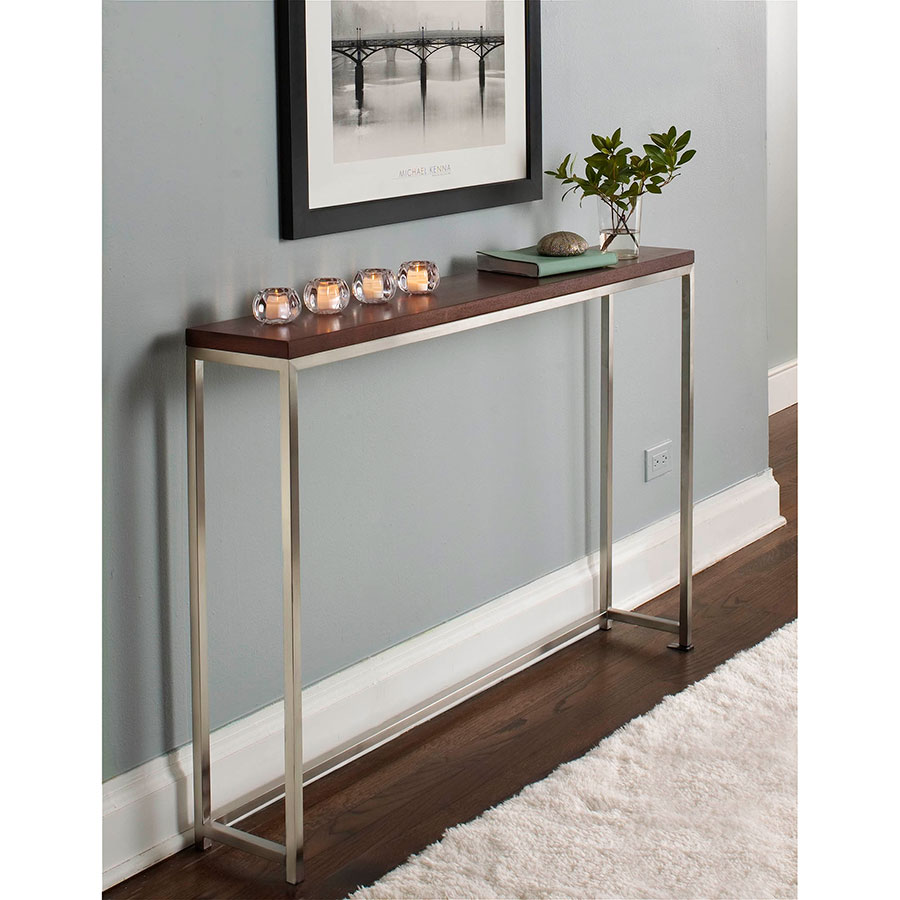... Olympia Modern Stainless Steel Console Table