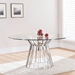 Omaha Contemporary Round Glass Dining Table