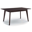 Omnia 59 in. Modern Cappuccino Dining Table