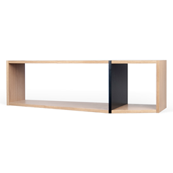 One Black + Oak Modern Shelf Module