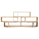 TemaHome One Shelf Quintuple Unit Configuration in Oak + White