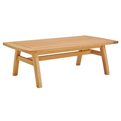 Ontario Modern Outdoor Eucalyptus Coffee Table