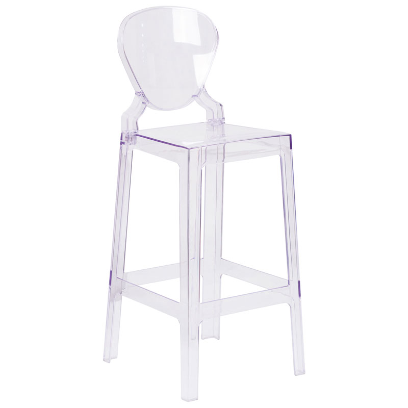Opal Modern Clear Polycarbonate Barstool