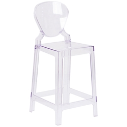 Opal Modern Clear Polycarbonate Counter Stool
