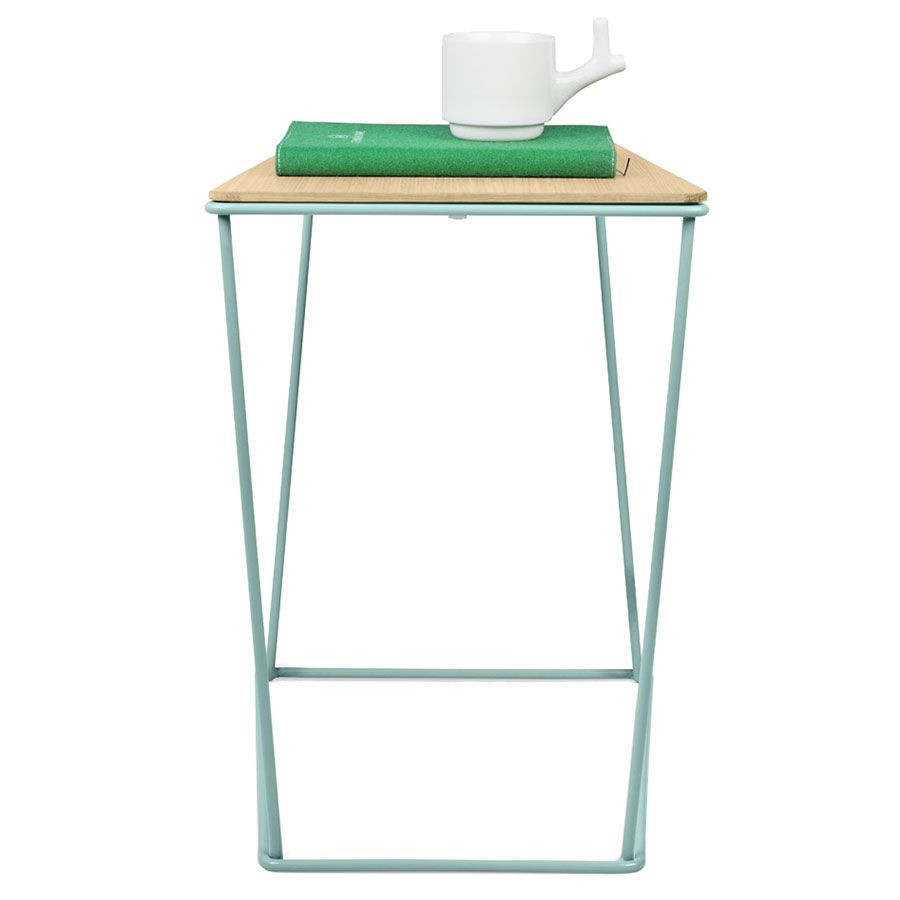 modern end tables  opal modern side table  eurway -  opal green metal  oak wood modern end table