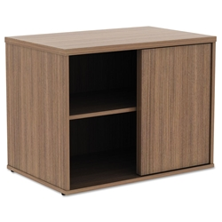 Optum Modern 30 In. Walnut Storage Cabinet