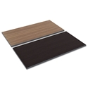 Optum Modern 48x24 Walnut / Espresso Reversible Desk Top