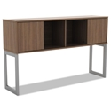 Optum Modern 60 Inch Walnut Hutch w/ Sliding Doors