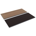Optum Modern 60x24 Espresso/Walnut Reversible Desk Top