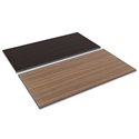 Optum Modern 60x30 Espresso + Walnut Reversible Desk Top