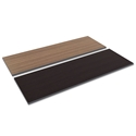 Optum Modern 72x24 Espresso + Walnut Reversible Desk Top