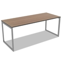 Optum Modern 72x24 Inch Desk in Walnut