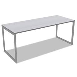 Optum Modern 72x30 Inch Desk in Gray