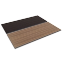 Optum Modern 72x30 Espresso + Walnut Reversible Desk Top