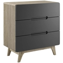 Oracle Modern Natural + Gray 3-Drawer Chest
