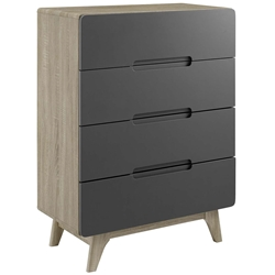 Oracle Modern Natural + Gray 4-Drawer Chest