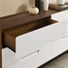 Oracle Contemporary Double Dresser in Walnut + White