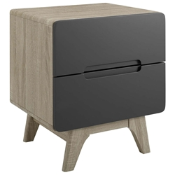 Oracle Modern Natural + Gray Nightstand