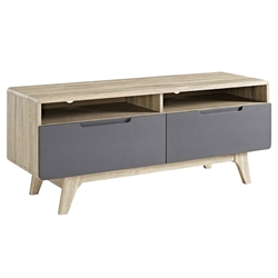 Oracle Modern Natural + Gray TV Stand